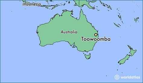 toowoomba australia toowoomba queensland map