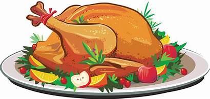 Clipart Turkey Transparent Clip Thanksgiving Dinner Roasting