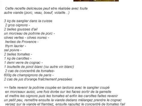 cuisiner le sanglier en daube recettes de daube