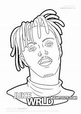 Wrld Juice Coloring Draw Pages Drawings Easy Cartoon Drawitcute Step Painting Sketches Famous Paintings Rapper Billie Eilish Canvas Zapisano Every sketch template