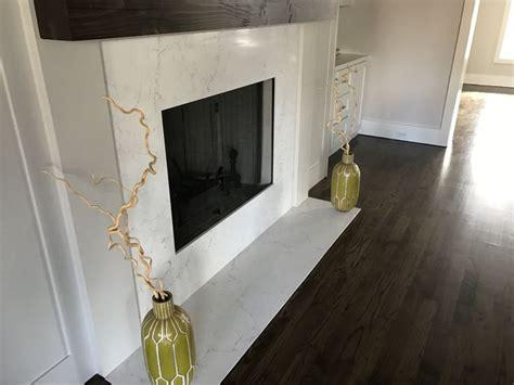 quartz fireplace surround quartz installation contemporary 2cm calacatta grey