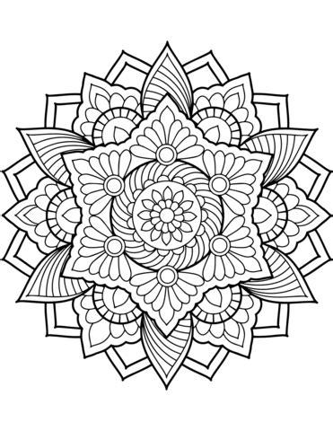 Flower Mandala Coloring page | Mandala coloring books