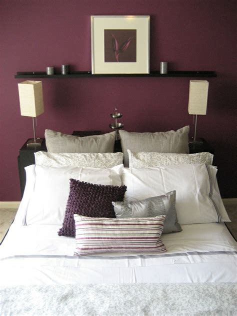 quelle couleur mettre dans une chambre la couleur bordeaux un accent dans l intérieur contemporain
