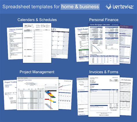 excel templates calendars calculators  spreadsheets