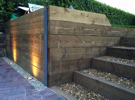 Finished Retaining Sleeper Wall, Steps, Block Paving Driveway And Exterior Led Garden Lighting How To Calculate Much Fabric Needed For Curtains Sheer Eyelet Kmart White Childrens Uk Curtain Fabrics In Northern Ireland Double Rod Brackets Wooden Grey And Shower Canada Gold Rods Warwick Australia