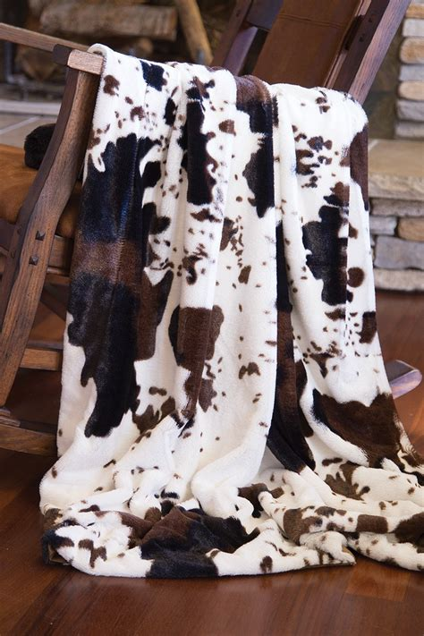 Cowhide Blanket by End D 233 Cor Faux Fur Cowhide Plush Throw Blanket