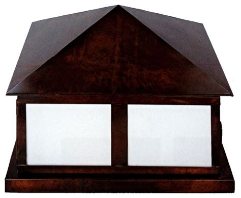georgetown pier base column mount copper lantern by