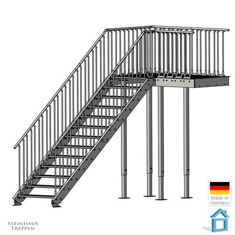 außentreppen metall mit podest au 223 entreppen metall mit podest treppen aussentreppen metallbau strobel gmbh in filderstadt