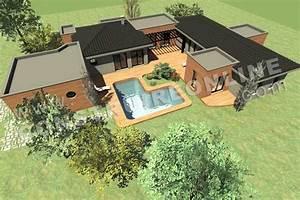 plan de maison plain pied contemporain modele intima With exemple de plan de maison