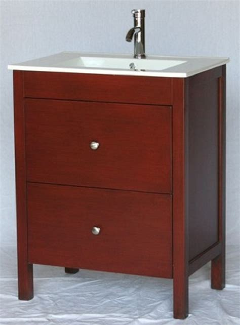 28 inch 18 inch deep bathroom vanity modern style cherry