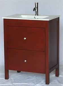 28 inch 18 inch deep bathroom vanity modern style cherry for How deep is a bathroom vanity