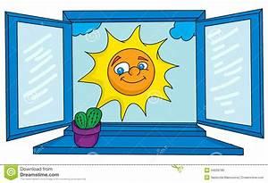 Open window stock vector Image of cumulus, frame, indoors