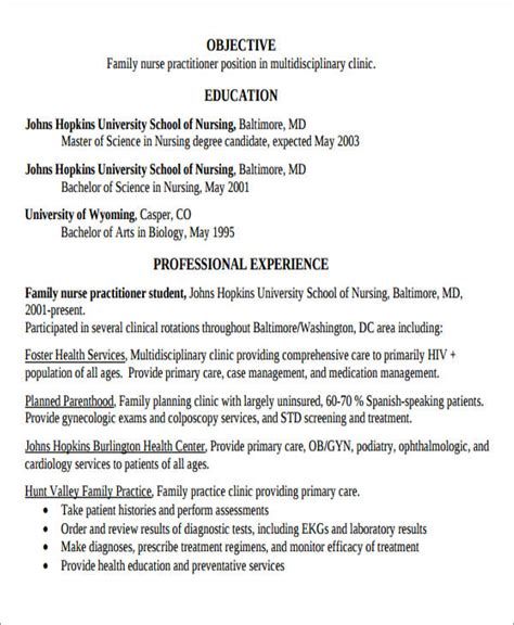 Practitioner Resume by 7 Sle New Resumes Exles In Word Pdf