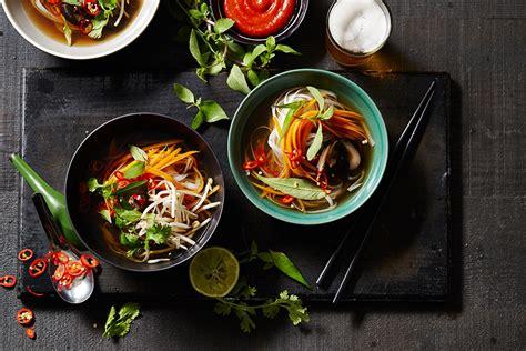 vegetarian pho  shiitake soup recipes sbs food