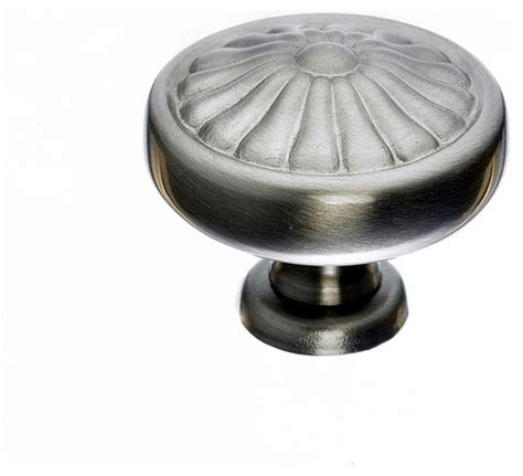 Houzz Bathroom Vanity Knobs by Brushed Nickel Cabinet Knobs 1 1 4 In Traditional