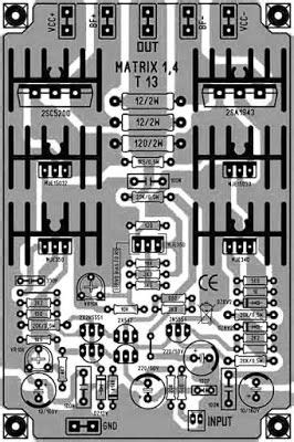 High Power Amplifier Matrix Pcb Layout Design