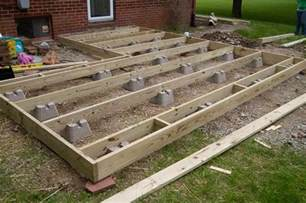 frame foundation with block deck this is what we would