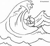 Coloring Wave Tsunami Pages Drawing Coloringcrew Water Getdrawings Colorear sketch template