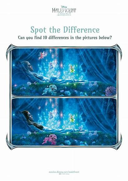 Activity Maleficent Printable Sheets Spot Difference Disney