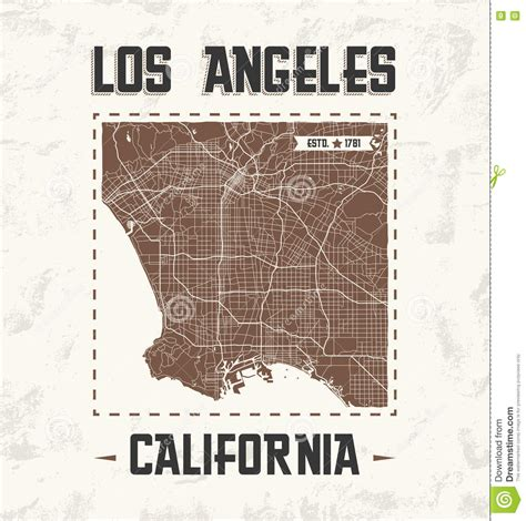 graphic design los angeles los angeles vintage t shirt graphic design with city map