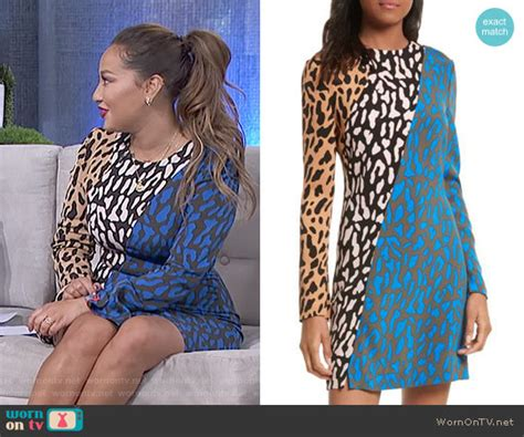 Adrienne's Leopard Print Long Sleeve Dress On