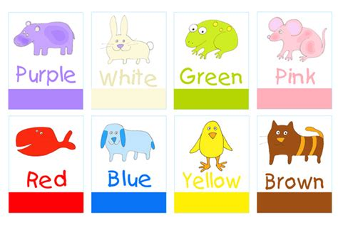 print and make colors flashcards