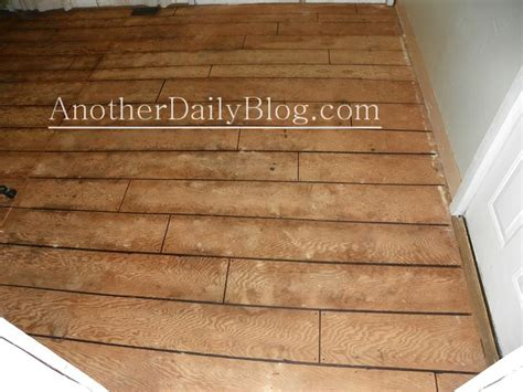 daily blog diy    plywood subfloor