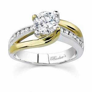 Barkev39s two tone engagement ring 6990ly for Wedding ring two tone