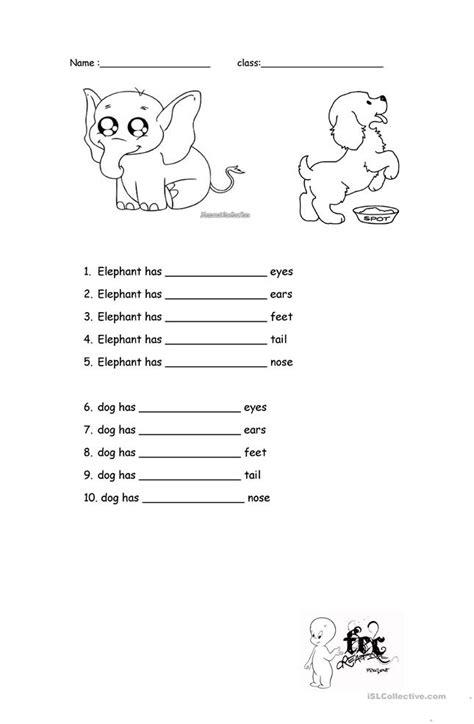 big small long  short worksheet  esl printable
