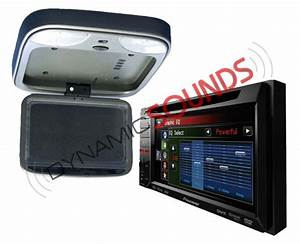 Pioneer Avh Dvd With 10 U0026quot  Roof Mount Screen