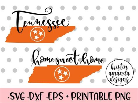 The illustrations you will receive will be provided is much higher quality than what you see in preview images. Tennessee Home Sweet Home Rocky Top SVG DXF EPS PNG Cut ...