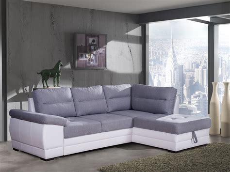 canapé d angle convertible tissu canapé d 39 angle convertible contemporain en tissu gris pu