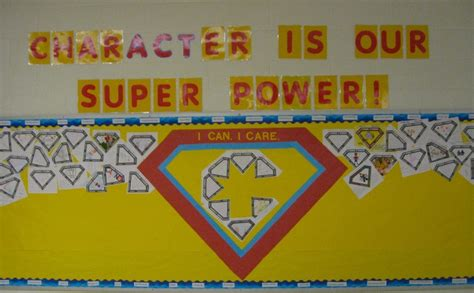 Character Is Our Super Power Bulletin Board To Display
