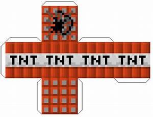 Minecraft papercraft for Minecraft tnt block template