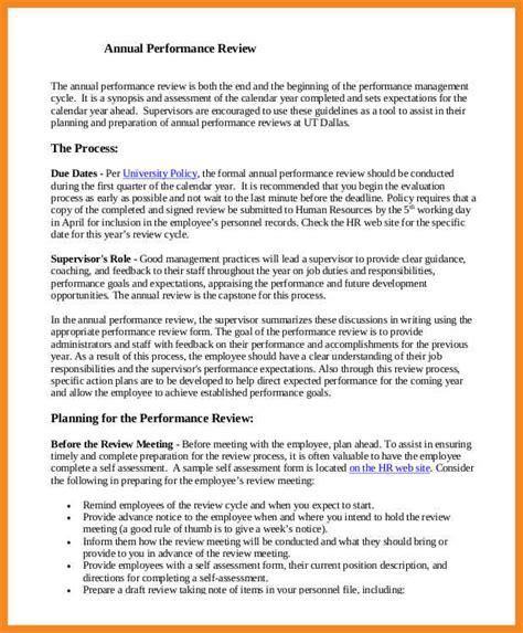 performance review sle resume exles