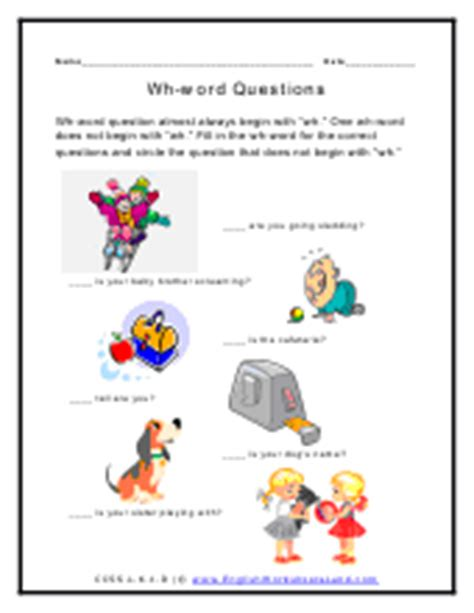 HD wallpapers question words in english worksheets