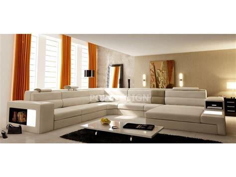canapé de luxe design canapé d 39 angle design en cuir osimo rangements