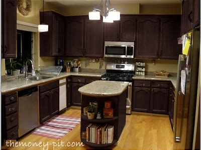 help me design my kitchen two i could stain them all to match the island 7023