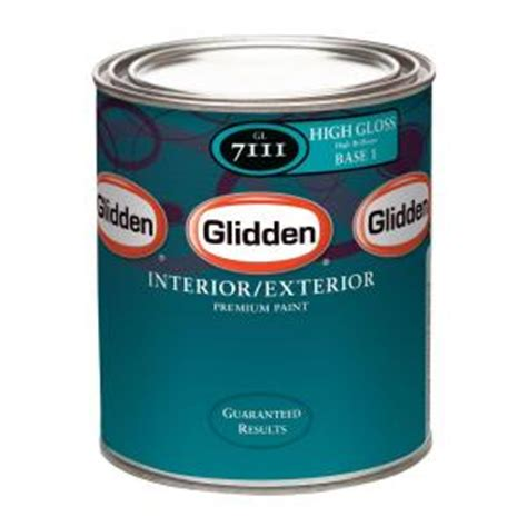 glidden premium 1 qt high gloss white interior