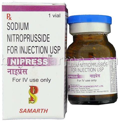 Nitropress Patient Information Description Dosage And