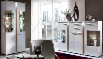 anrichte wohnzimmer 2er set vitrinen spot vitrinenschrank anrichte kommode wohnzimmer vitrine weiß hochglanz schöner