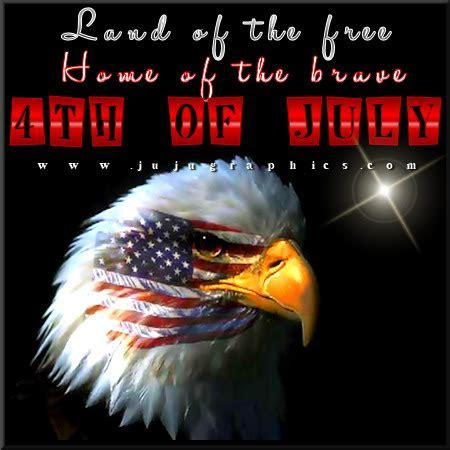 Land of the free home of the brave 4th of July   Graphics