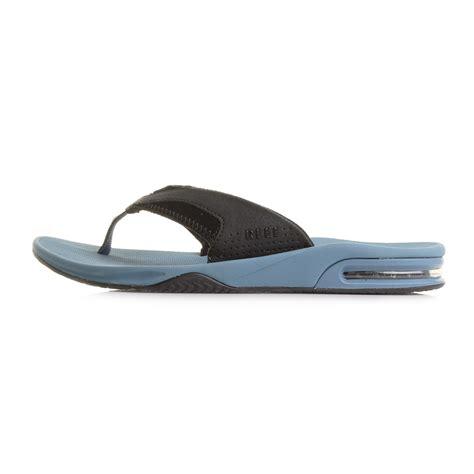 reef fanning mens size 10 mens reef fanning steel blue toe post sandals flip flops