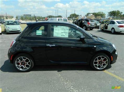 Black Fiat 500 by Nero Black 2012 Fiat 500 Sport Exterior Photo 70766860