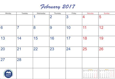 calendar 2017 template february february calendar 2017 printable printable 2017 2018