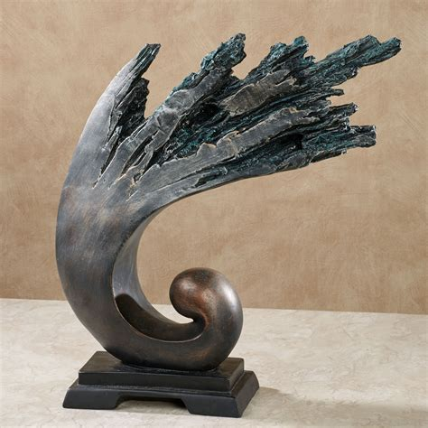 breaking waves abstract table sculpture