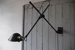 Applique Murale Bras Articulé : rare lampe o c white industrielle fixation murale ~ Teatrodelosmanantiales.com Idées de Décoration
