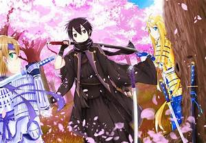 SAO KiritoMizunaand Alice WALLPAPER By