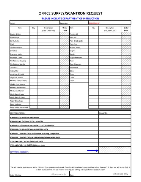 Office Supplies Order Form by Best Photos Of Supply Order Form Template Excel Office