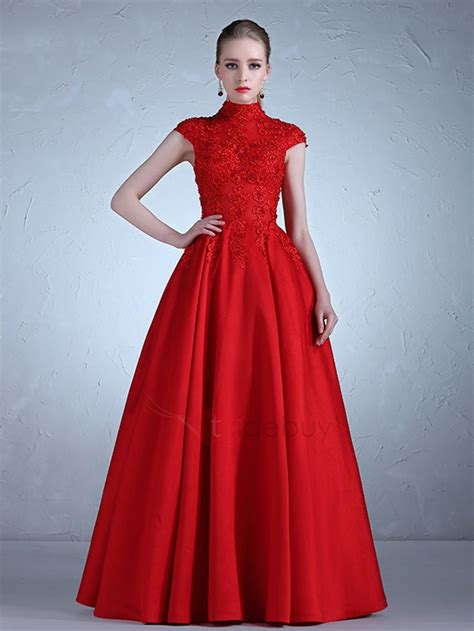 applique on line high neck appliques beading a line evening dress tidebuy